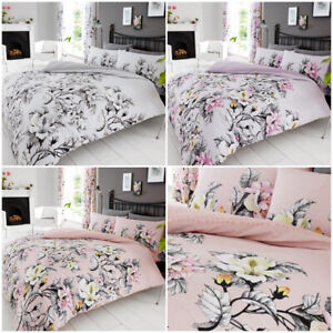 4PCS Eden Complete Bedding Set Duvet Cover With + 2 Pillowcase + 1 Fitted Sheet
