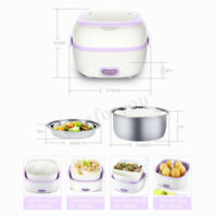 1L Multifunctional Electric Lunch Box Mini Rice Cooker Portable Food Steamer Hot