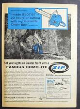 1960 Homelite Zip Chain Saw Photo Ad Endorse by Oscar Williams of Springfield MO