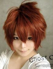 NEW Vocaloid meiko Fashion Short Red Brown Straight Cosplay Wig