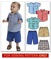 SEWING PATTERN! MAKE SHIRT~SHORTS~PANTS! BABY~TODDLER BOY CLOTHES~SIZE 13~29 LBS
