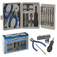 26 Pcs Multi Purpose Screwdriver Wrench Pliers Tool Set DIY Kit Carry Case Bits