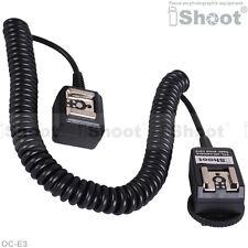 2.5m Flash E-TTL Off-Camera 2-Hot-Shoe Cord Cable w PC SYNC Socket f Canon OC-E3