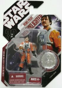 Hasbro Star Wars 30th Aniversario Biggs Darklight Rebel Piloto Figura