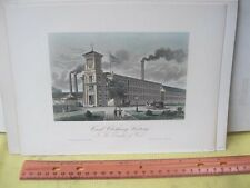 Vintage Print,CARD CLOTHING FACTORY,American Industry,19th Cent.