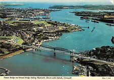 B100423 tamar bridge and brunel bridge plymouth devon with saltash uk