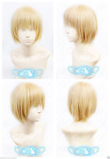 Attack on Titan Armin Arlert Short Warm Blonde Cosplay Anime Wig+ free wig cap