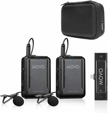 Movo EDGE-UC-DUO Wireless Lavalier Microphone for USB Type C Smartphones