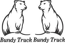 Bundy Truck Stickers 2 x 175 x 130 Quality Sticker UV rated