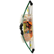 Bear Archery Scout Youth Childrens Compound Kids Bow Arrows Quiver Tab Set