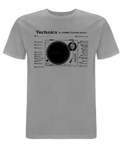 NEW - Technics 1200-MK2 Turntable System T-shirt (s-xxl)  DJ Decks Vinyl Record