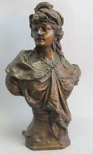 Antique Italian Orientalist Art Nouveau Bronze Sculpture  c. 1930  G. GUTIERREZ