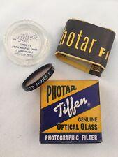 TIFFEN PHOTAR FILTER-GENUINE OPTICAL GLASS-PHOTOGRAPHIC FILTER-SERIES #5  8