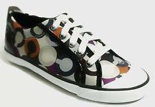 Coach Women's Barrett Signature Graphic Op Art Sneaker Shoes Multi 6 NEW IN BOX