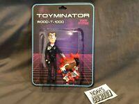 SDCC 2019 DKE Toyminator Wood-T-1000 Action Figure 7/30 Toy Story Terminator RIP