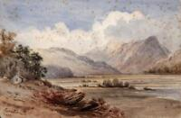 GLEN CONAN SCOTLAND Victorian Watercolour Painting c1880 ROBERTSON