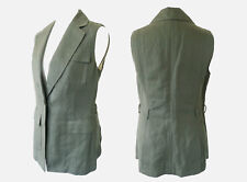 BANANA REPUBLIC Olive Green Military Long Gilet Top Cover Up WaistCoat UK 10