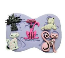 3D Silicone Cat Shape Fondant Mould Cake Decorating Chocolate Baking Mold Tool