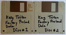 Korg TRITON Preload Floppy Disks FULL SET ! 1 + 2  WORLD SHIPPING OK