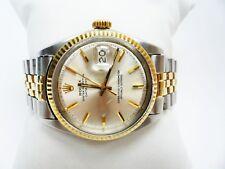 Vintage 1966 Rolex 1601 Datejust 36MM SS 14K Silver Dial Jubilee Bracelet