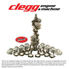 """CHEVY 350-383 SCAT STROKER KIT, 1PC RS, Hyper(Flat)Pist., I-Beam 5.7"""" Rods"""
