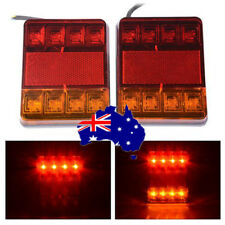 2x 12V Trailer LED Light Stop Tail Indicator 8 LEDS Rear Tail Lights Car Truck N