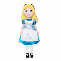 """Disney Store Authentic Alice in Wonderland Plush Toy Doll 18"""" H New"""