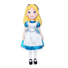 "Disney Store Authentic Alice in Wonderland Plush Toy Doll 18"" H New"