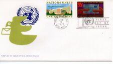 UN FDC NY #226,Geneva #22 Combo (9151)
