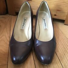 Vintage Brown Leather Heels Mimi 8.5 M 8 1/2