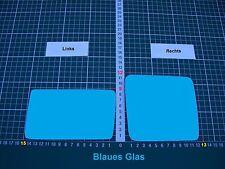 Außenspiegel Spiegelglas Ersatzglas Mercedes W124 Li od Re sph Konvex Blau Glas