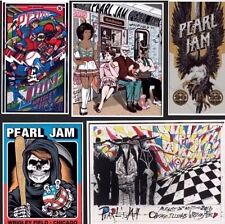 Full Set of Pearl Jam 2016 Wrigley Field Concert Posters+5 packs of trading card