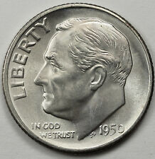 1950-s Roosevelt Dime.  100% Fully Separated Horizontal Band's.  B.U.  (Inv.A)