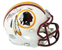 Joe Theismann Signed Washington Flat White Riddell Mini Helmet w/83 MVP - SS COA