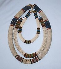 3 ANTIQUE AFRICAN ZULU BEADED NECK ROLLS/NECKLACES