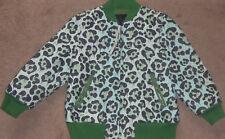New Womens Coach Wild Beast Leather Baseball Jacket Size L Green/Black $1695