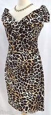 ALEX evenings leopard dress ruched sexy portrait cocktail party dress jungle 6