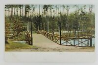 Postcard Pine Island Park Bridge Manchester New Hampshire