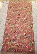 """Croscill Red Serena Curtain Panel Drapes 40"""" W  86"""" L 3"""" Rod Pocket Lined Floral"""