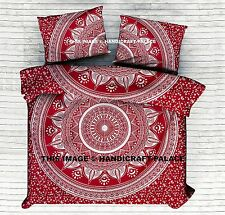 Mandala Indian Duvet Covers Throw Cotton King Quilt Blanket Cover Bedding Set