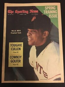 1969 Sporting News SAN FRANCISCO Giants WILLIE MAYS No Label BASEBALL Preview NL
