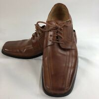 Stacy Adams Mens Corrado Oxfords Shoes Brown Leather Lace Up Bicycle Toe 9.5 M
