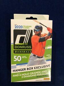 2020 MLB DONRUSS Baseball Hanger Box Exclusive 50 Cards -  6 Holo Orange SEALED