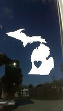 State of MICHIGAN vinyl decal with cut out heart, bumper sticker, funny decal