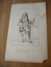 FRANCOIS DE BLANCHEFORT MARQUIS DE  CREQUY  EN 1668 GRAVURE 19°