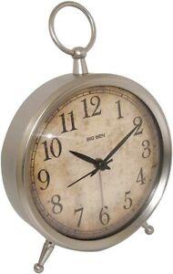 """Westclox Big Ben Quartz 4"""" Distressed Dial Metallic Bell Alarm Clock 49829V"""