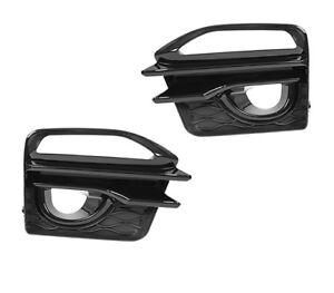 Pair Front Fog Light Lamp Cover Frame For Infiniti Q50 Sport 14-17