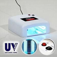 LAMPE UV PRO 36W, SÉCHOIR POUR VERNIS ONGLES SEMI-PERMANENT LED +4X AMPOULES 9W