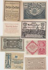 More details for twelve austria small heller notgeld notes 1920/1922 in extremely fine condition