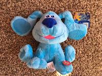 NEW Blues Clues & You BARKING BLUE Plush Dog 7'' Nickelodeon